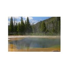 Yellowstone mineral lake #5 Rectangle Magnet (10 p