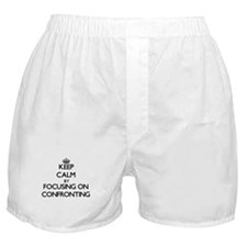 Keep Calm by focusing on Confronting Boxer Shorts