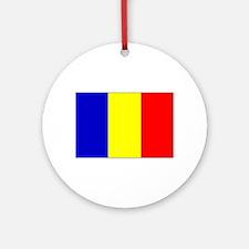 Romanian Flag Round Ornament