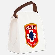 Virginia Defense Force - Echo Com Canvas Lunch Bag