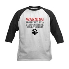 Protected By A Staffordshire Bull Terrier Baseball