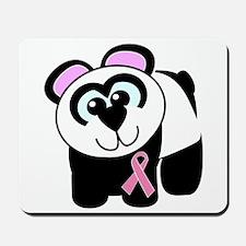 Pink Awareness Ribbon Panda Mousepad