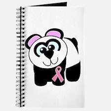 Pink Awareness Ribbon Panda Journal