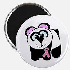 Pink Awareness Ribbon Panda Magnet