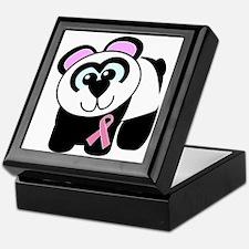 Pink Awareness Ribbon Panda Keepsake Box