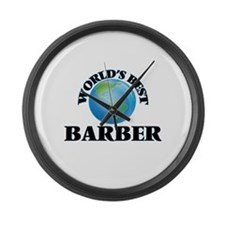 World's Best Barber Large Wall Clock