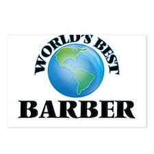 World's Best Barber Postcards (Package of 8)