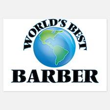 World's Best Barber Invitations