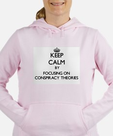 Keep Calm by focusing on Women's Hooded Sweatshirt