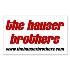 The Hauser Brothers Rectangle Decal