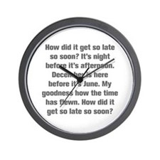 How did it get so late so soon It s night before i