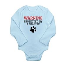 Protected By A Staffie Body Suit