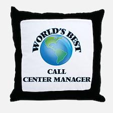 World's Best Call Center Manager Throw Pillow