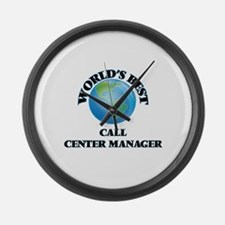 World's Best Call Center Manager Large Wall Clock