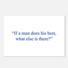 If a man does his best what else is there Postcard