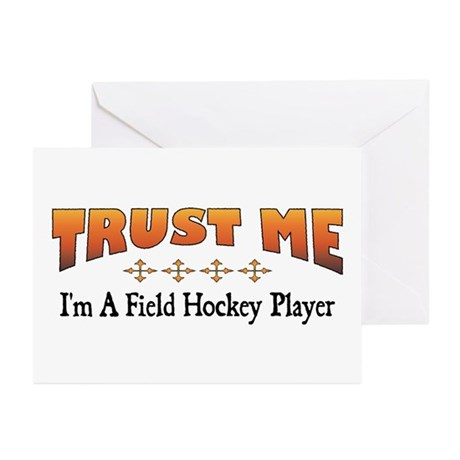 Trust Field Hockey Player Greeting Cards (Package
