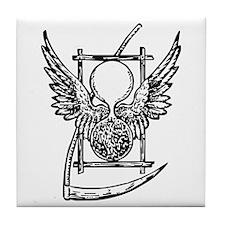 Hour Glass and Scythe Tile Coaster