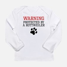 Protected By A Rottweiler Long Sleeve T-Shirt