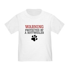 Protected By A Rottweiler T-Shirt