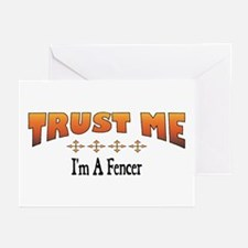 Trust Fencer Greeting Cards (Pk of 10)