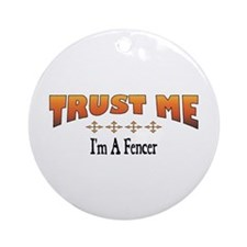 Trust Fencer Ornament (Round)