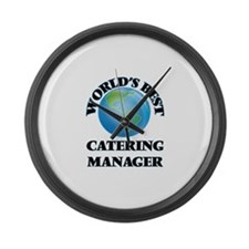 World's Best Catering Manager Large Wall Clock