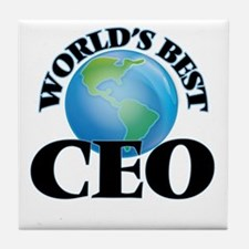 World's Best Ceo Tile Coaster