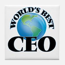 World's Best Ceo Tile Coaster