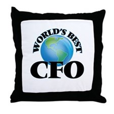 World's Best Cfo Throw Pillow