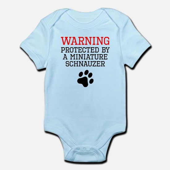Protected By A Miniature Schnauzer Body Suit
