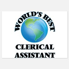 World's Best Clerical Assistant Invitations