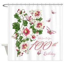 100th Birthday Vine Flowers Shower Curtain