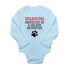 Protected By A Golden Retriever Body Suit