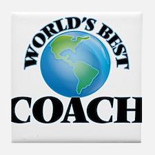 World's Best Coach Tile Coaster