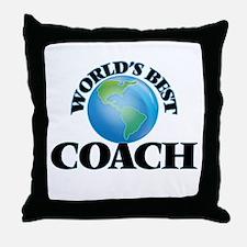 World's Best Coach Throw Pillow