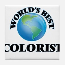 World's Best Colorist Tile Coaster