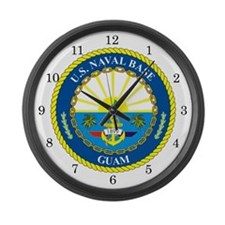 U.S. Navy Base Guam Large Wall Clock
