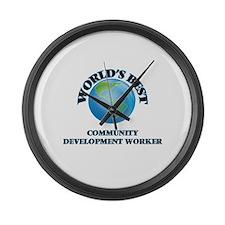 World's Best Community Developmen Large Wall Clock