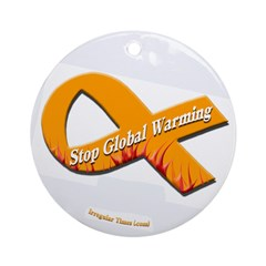 Stop Global Warming (tree ornament)