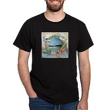 Pier Beach Collage T-Shirt