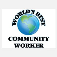 World's Best Community Worker Invitations
