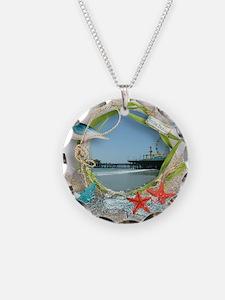 Pier Beach Collage Necklace