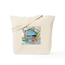Pier Beach Collage Tote Bag
