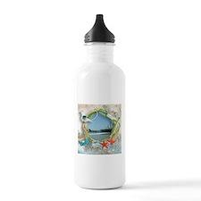 Pier Beach Collage Water Bottle