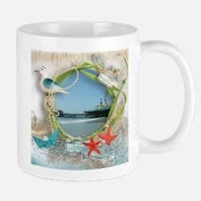 Pier Beach Collage Mugs