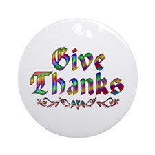 Give Thanks Ornament (Round)