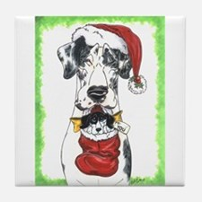 Great Danes stocking Tile Coaster
