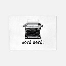 Word nerd 5'x7'Area Rug