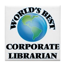 World's Best Corporate Librarian Tile Coaster