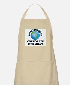 World's Best Corporate Librarian Apron